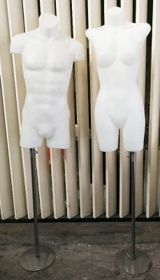 Man and woman mannequins for shop