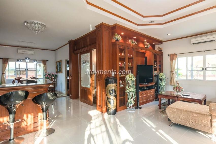 4 BR House for Sale w. Teak Furniture in San Kamphaeng. REDUCED!