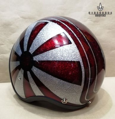 Custom Free Hand Painted Airbrush Jet 3/4 Open Face ECE, DOT helmets