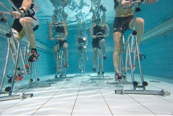 Underwater Bicycle - Physical Therapy - Osteoporosis - Reduced
