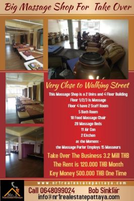 Big Massage Salon near Walking Street Pattaya