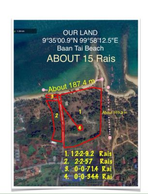 Ban Tai Beach Land on Koh Samui for Sale/Lease - 12 Rai 2 Ngan