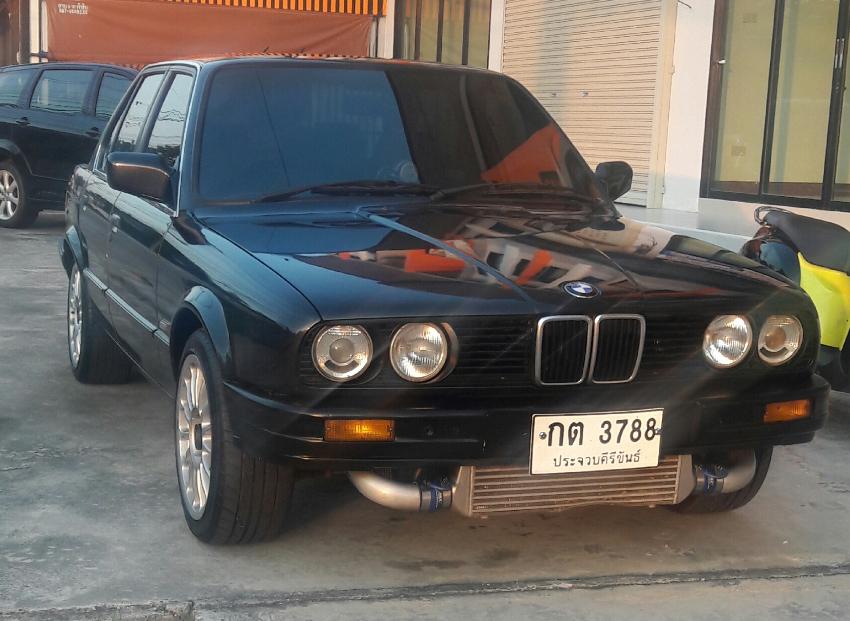 BMW 316i with a 1JZ Turbo - 180,000 Baht.