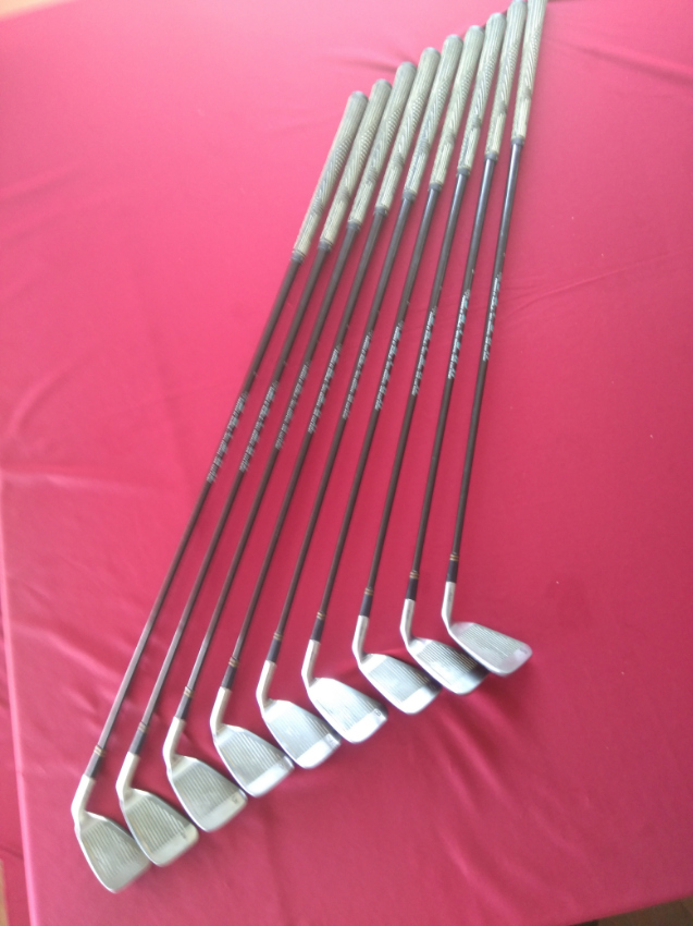 Full set left hand Trident Saturn clubs