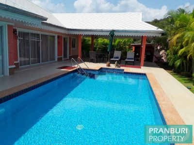 Newly renovated large 3 bedroom pool villa for sale in Pak Nam Pran