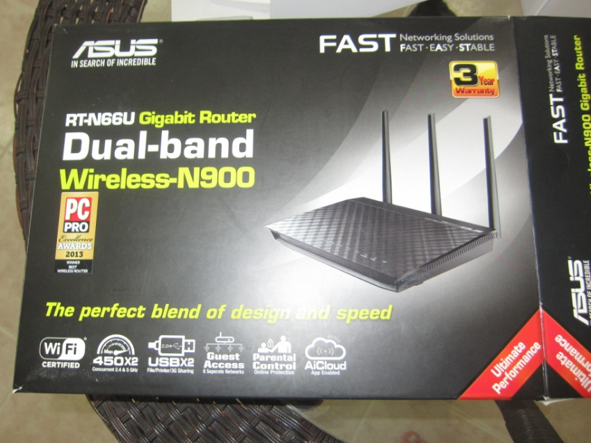 Router ASUS RT-N66U  only 1,500 bahts - N900 GB Dual-Band SuperFAST.
