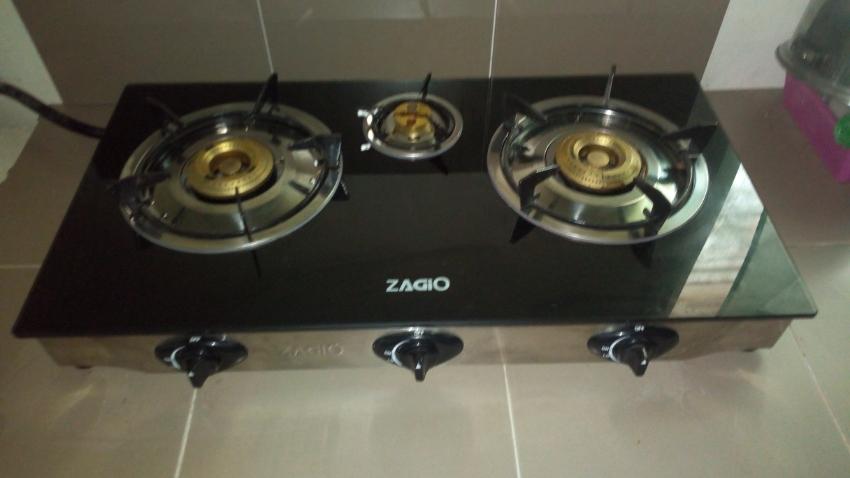 Zagio 3 Burner Table top Gas Stove