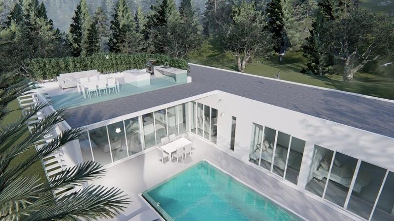 New Modern Off Plan 4 BR 3 Bath Pool Villas 10 Minutes From Hua Hin