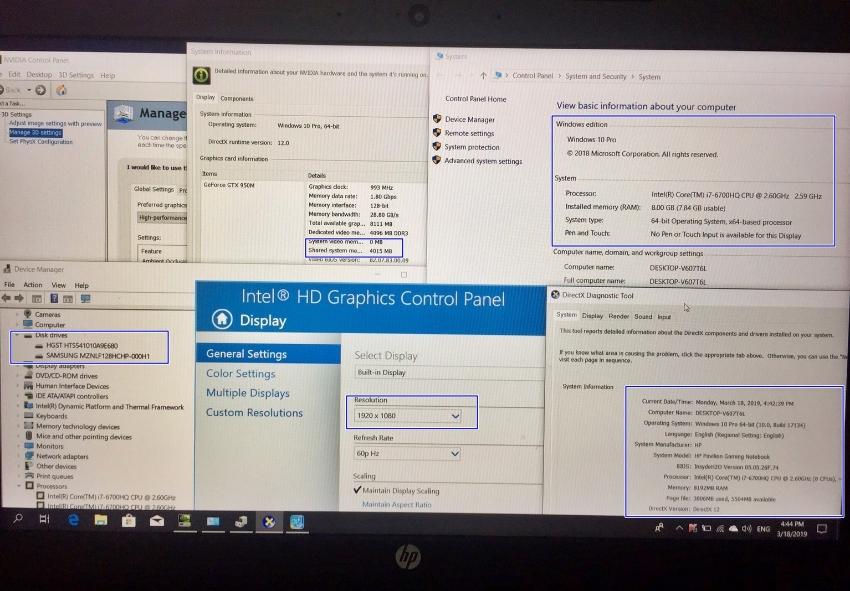 HP Pavilion Gaming 15-AK008TX / Core i7-6700HQ 2.6GHz, RAM 8GB(*Upgrad