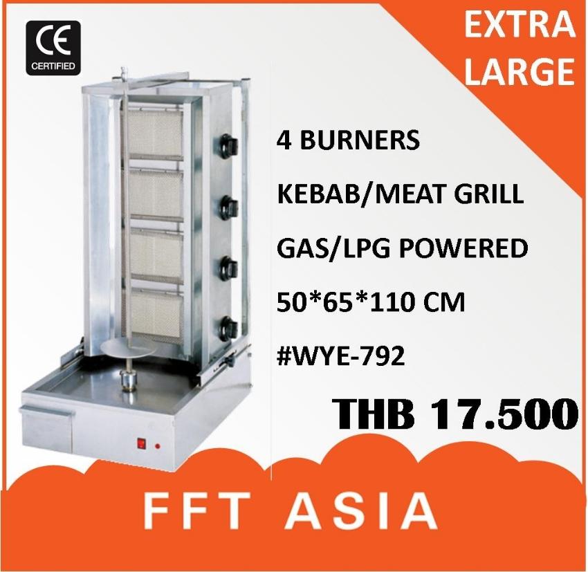 Large 4 Burner Kebab Griller
