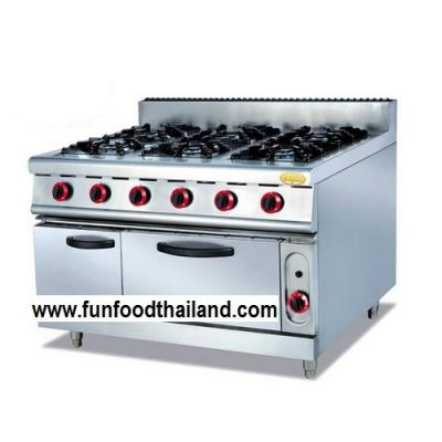 Free Standing Gas Range with 4 Burners& Gas Oven and Cabinet