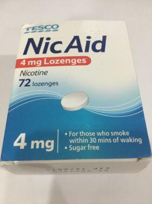 Nic Aid 4mg nicotine lozenges.