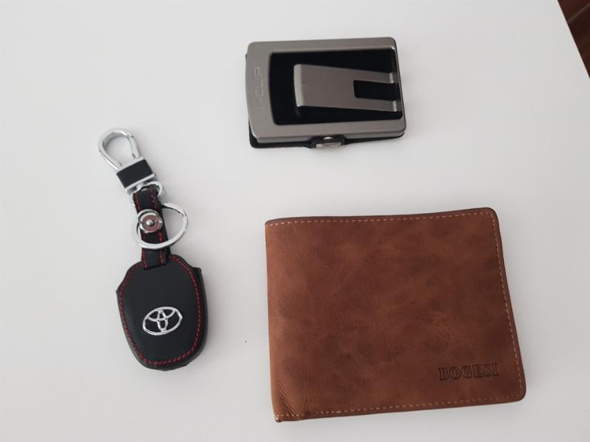 Wallet, Leather Key Case, Cards Holder