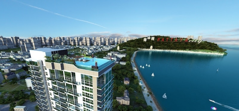 one bedroom condo for sale with spectacular sea views.