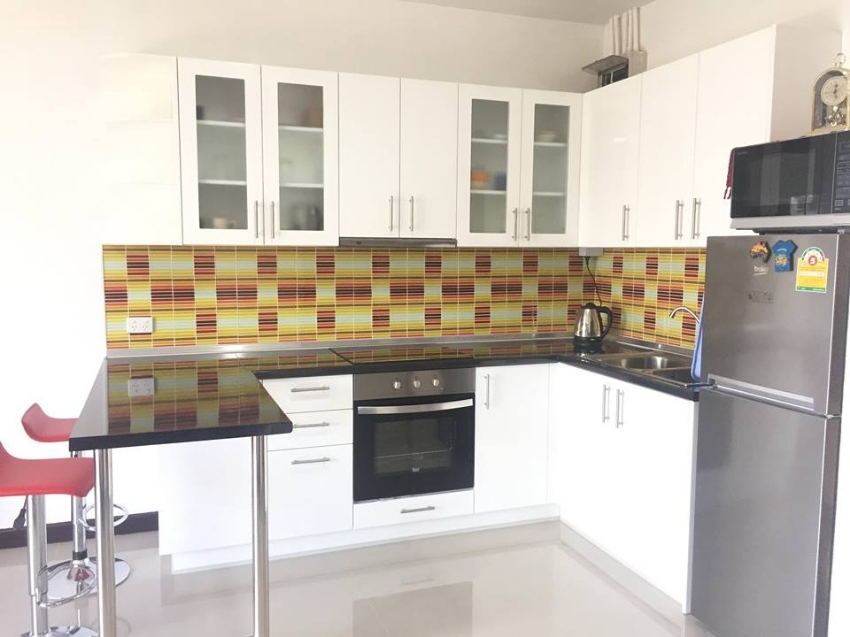 A fully furnished unit with western kitchen and a balcony is for rent