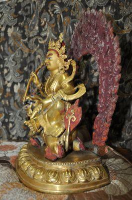 Vaishravana Gold Gilding Bronze Statue