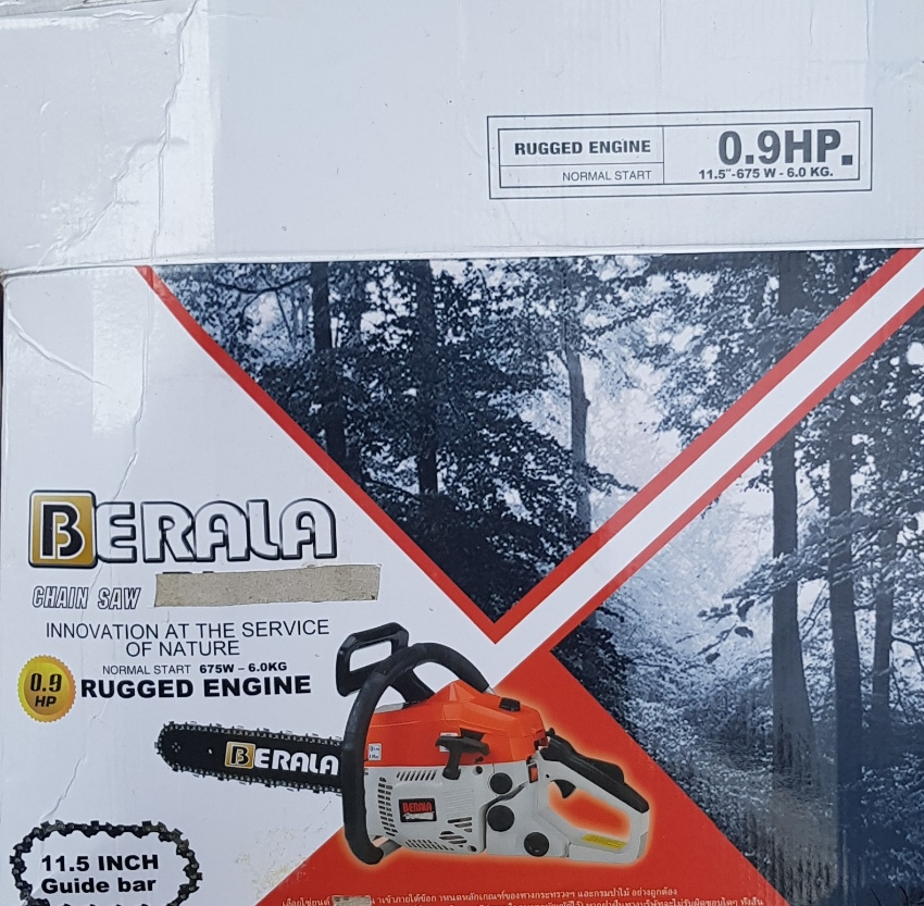 CHAINSAW BERALA PETROL 11.5 INCH BRAND NEW IN BOX REDUCED