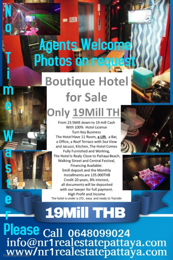 Boutique Hotel for Sale with 100% Hotel License