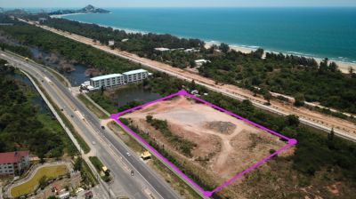 Land 15 rai 333 T.w. (25332 m²) for sale in Hua Hin on Phetkasem Road