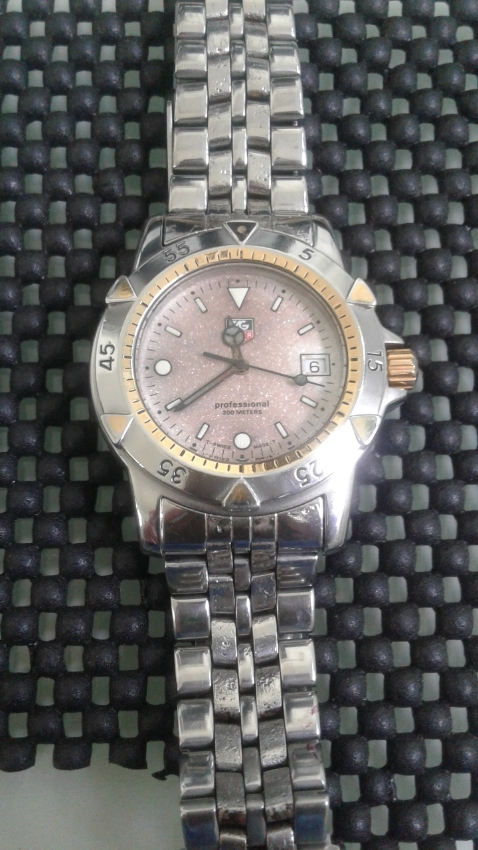 Genuine Tag Heuer Model 955.713G Silver Gold Watch 40mm