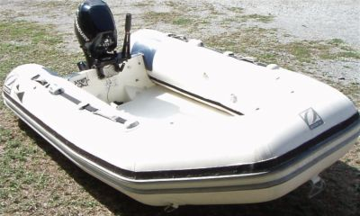 Zodiac 2.6mtr RIB with 8hp Mercury 4 stroke outboard