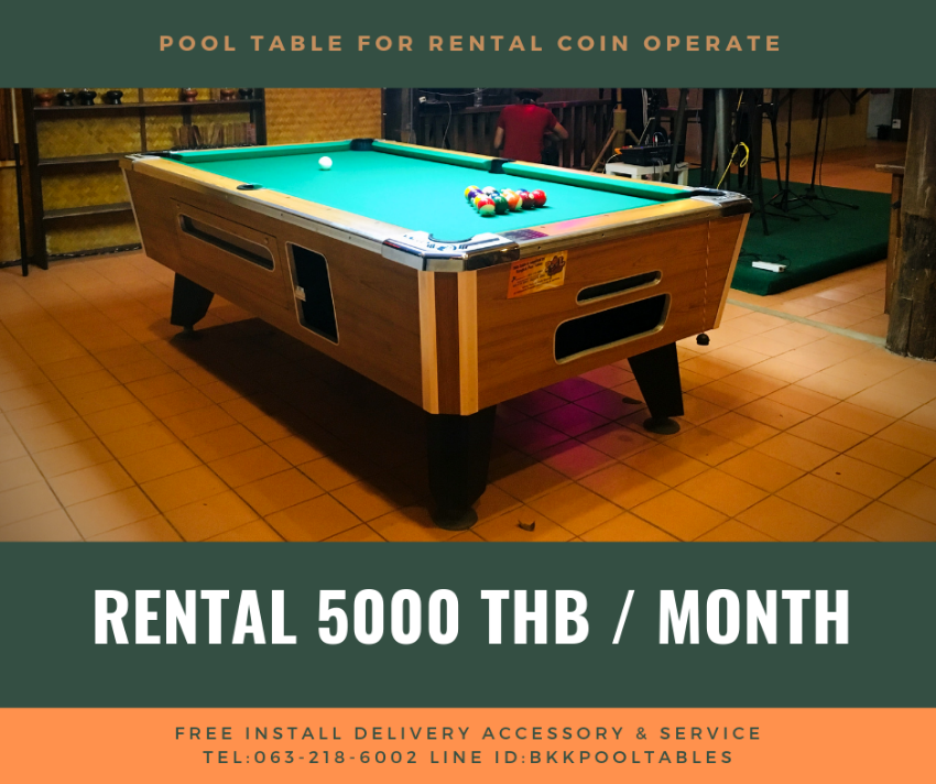 Pool table for rental