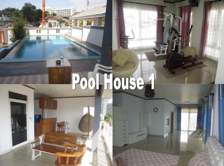 Jomtien Pool 5 Bedroom Houses for Rent and Sale