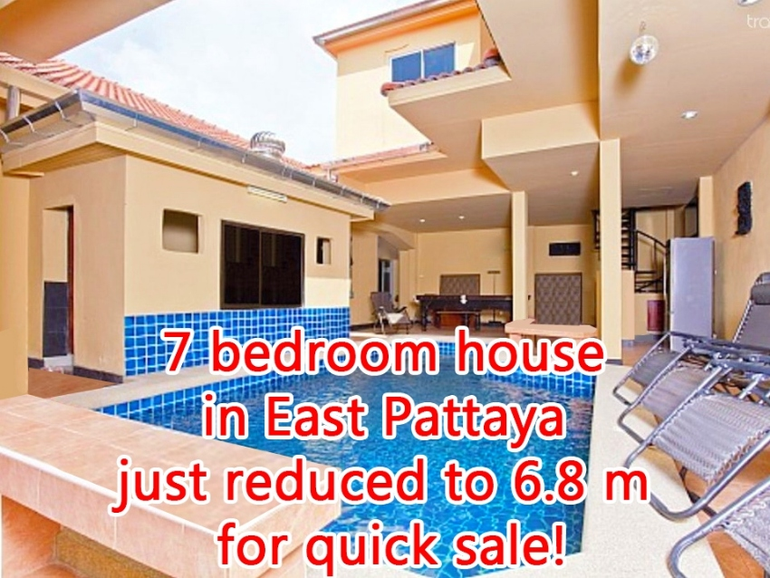 7 bedroom house in East Pattaya just reduced to 6.8 million for quick!