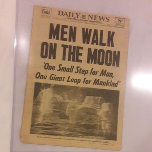 Daily News Newspaper original . 50 years ago .Men on Moon!