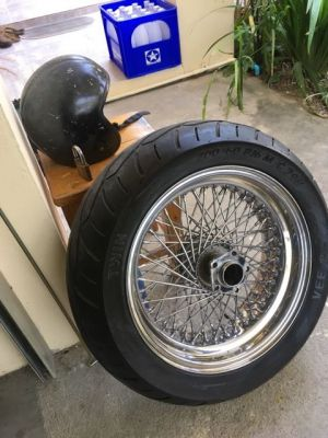 Back wheel for Harley