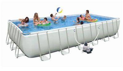 Brandnew Intex 24ft (732 cm) long Rectangular Ultra Frame Pool
