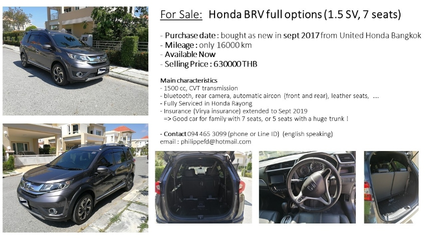 Honda BRV, 2017, 7 seats, full options