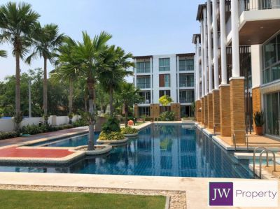 SALE! Excellent value ground floor 2 bed condo on Cha Am beachfront