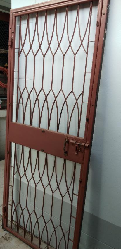 Steel security door and frame