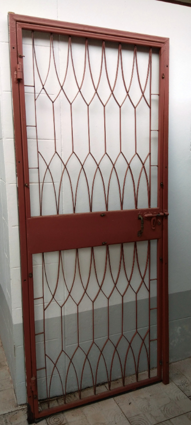 Steel security door and frame