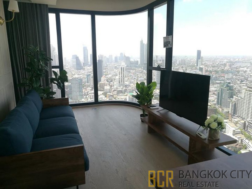 Ashton Chula Silom Ultra Luxury Condo Very High Floor 2 Bedroom Corner