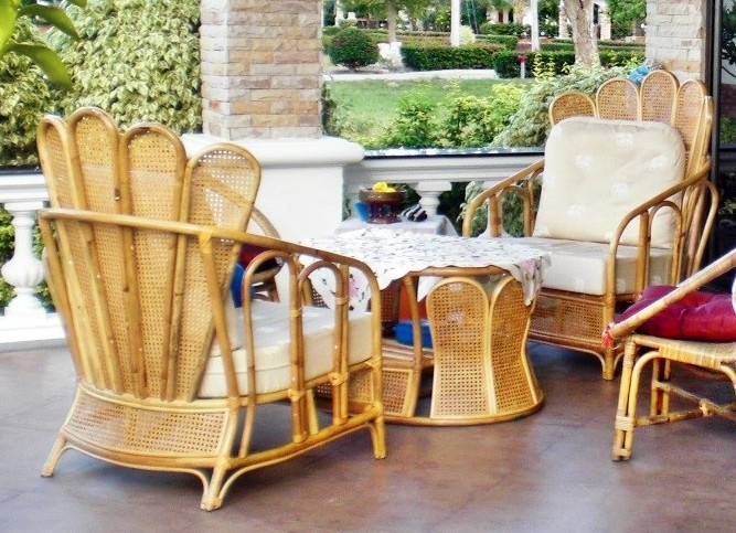 Brilliant Garden Rattan Set Two Chairs And One Table Household Beutiful Home Inspiration Aditmahrainfo