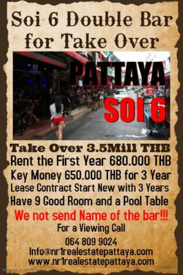 FOR SALE  DOUBLE UNIT BAR IN Soi 6