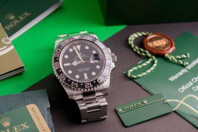 Rolex GMT-Master II Green hand ,Rectangular error dial