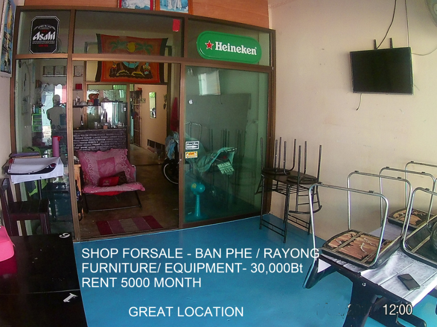 SHOP FOR-RENT, TOWNHOUSE , BAN PHE, RAYONG PHE