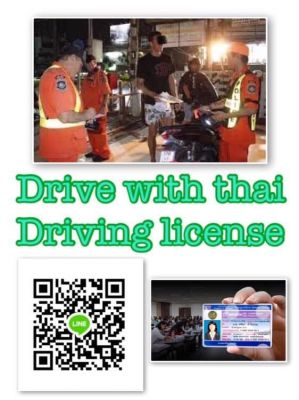 THAI LEGAL DRIVING LICENSE * WITH ANY VISA*