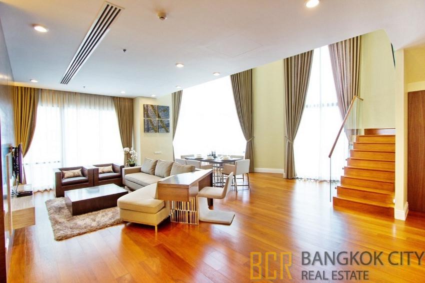 Bright Sukhumvit 24 Luxury Condo Spacious 3 Bedroom Duplex Unit