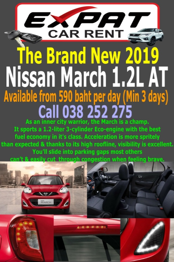New Nissan March 1.2L AT 2019 for Rent