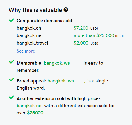 Bangkok.ws  Premium Domain name