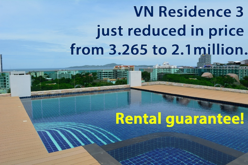 40sqm 1 bed condo in Pratumnak  just reduced in price to 2.1 million!