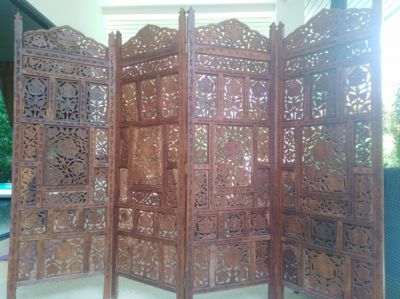 antique handmade room divider 7500 bath
