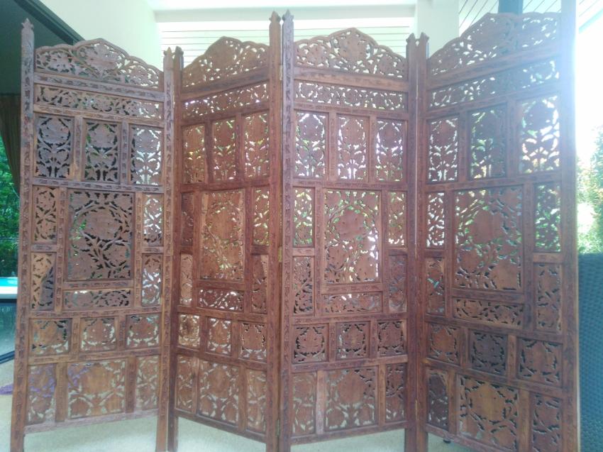 antique handmade room divider 7500 bath
