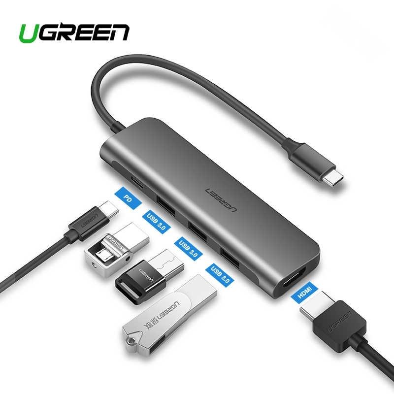USB-C Hub Ugreen HDMI, USB3.0x3 and 60w USB-C PD pass trough