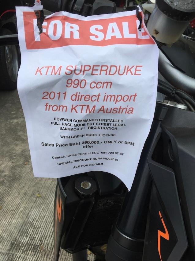 KTM SUPERDUKE QUICK SALE