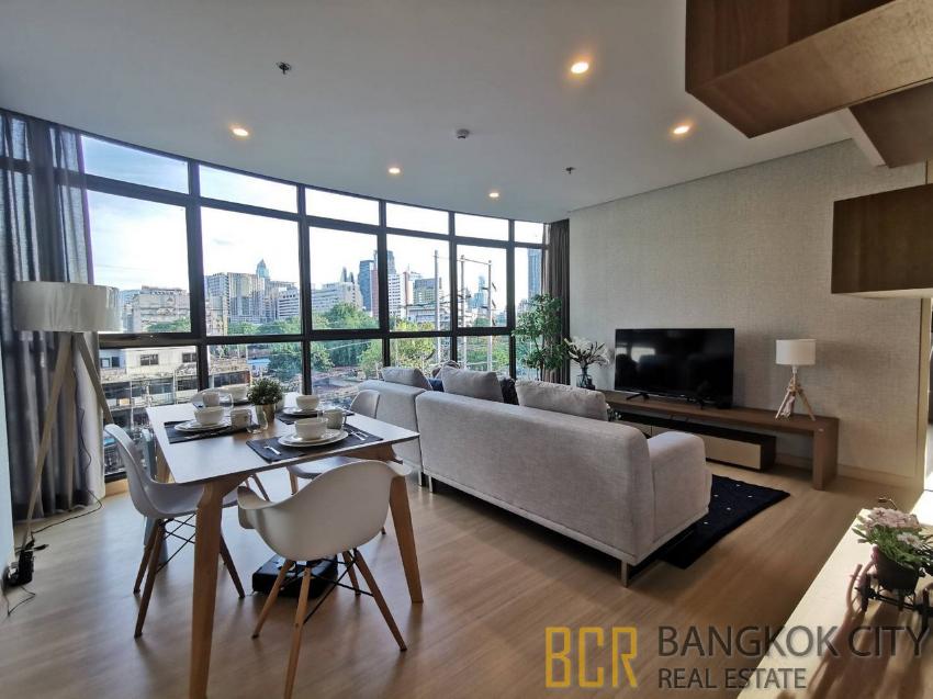 Lumpini Suite Phetchaburi Luxury Condo 2 Bedroom Corner Unit for Rent